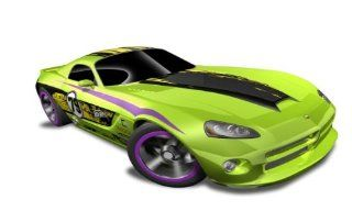 Hot Wheels   '06 Dodge Viper SRT10 (Green w/Black, Yellow Stripe)   HW Code Cars '12   8/22 ~ 233/247 [Scale 164] Toys & Games