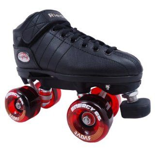 Riedell R3 Energy Red Outdoor Quad Roller Derby Speed Skates Sports & Outdoors