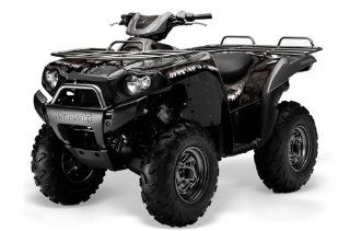 AMR Racing Kawasaki Brute Force 650i 4x4 ATV Quad, Graphic Kit   Reaper Black Automotive