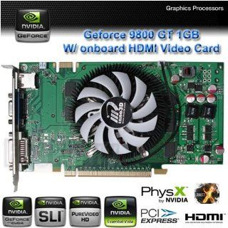 Inno3d Nvidia Geforce 9800 Gt 1gb Gddr3 256 bit Pci e 2.0 w/ DVI + Vga + Onboard Hdmi Video Card Computers & Accessories