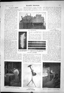 1903 Scientific American Optical Pyrometer Noise Lightning Thermo Gage Diagram   Prints