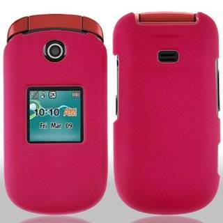 Samsung Chrono 2 R270 Hot Pink Rubberized Cover Cell Phones & Accessories