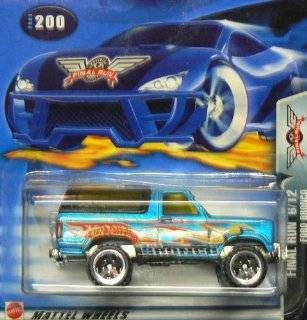 Hot Wheels 2003 Final Run Ford Bronco 6/12 BLUE #200 SUV Toys & Games