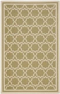 Safavieh CY6916 244 Courtyard Collection Indoor/Outdoor Area Rug, 9 Feet by 12 Feet, Green and Beige