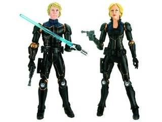 Star Wars 2009 Comic Book Action Figure 2 Pack Stealth Armor Luke Skywalker and Deena Shan Toys & Games