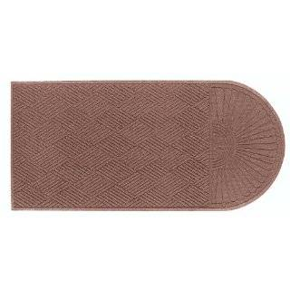 "Andersen 272 Waterhog Grand Classic Polypropylene Fiber Half Oval Entrance Indoor/Outdoor Floor Mat, SBR Rubber Backing, 3.3' Length x 6' Width, 3/8"" Thick, Medium Brown"