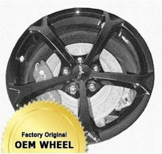 CHEVROLET CORVETTE 19x12 5 SPOKE Factory Oem Wheel Rim  BLACK   Remanufactured Automotive