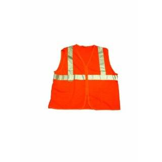 Elk River 99152 High Visibility Nylon/Polyester Mesh Safety Vest with Velcro Closure, Medium, Orange