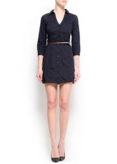 Mango Women's Shirt Dress Navy Pt