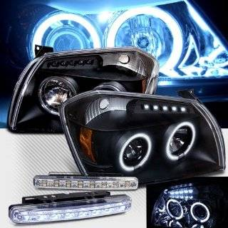 2005 2007 DODGE MAGNUM CCFL HALO PROJECTOR LED HEADLIGHTS + LED FOG BUMPER LAMPS Automotive