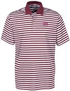 Oxford NCAA New Mexico State Aggies Men's Bar Stripe Golf Polo, Maroon/White Sports & Outdoors