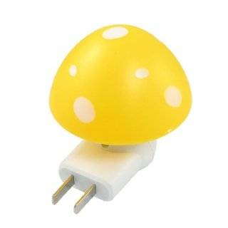 Amico AC 220V 1/5W Yellow Mushroom Shaped White LED Night Light Table Lamp