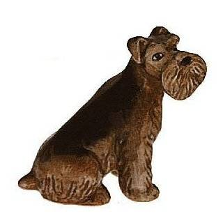 WELSH TERRIER AIREDALE DOG Sits MINIATURE NEW Figurine Porcelain KLIMA E296A   Collectible Figurines