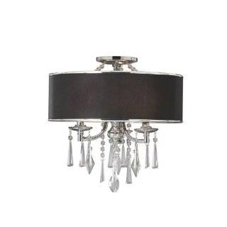 Golden Lighting 8981 SF GRM Tuxedo (Black) Echelon Three Light Semi Flush Ceiling Fixture from the Echelon Collection