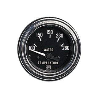 "Stewart Warner 82307 Deluxe 2 1/16"" Water Temperature Electric Gauge Automotive"