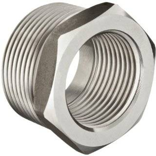 Stainless Steel 304 Pipe Fitting, Hex Head Bushing, Class 1000, NPT Male X NPT Female