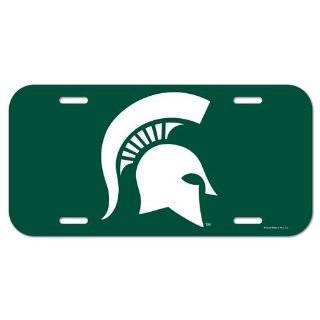 Michigan State Spartans NCAA License Plastic Plate Vanity Car Graphics Sign Tag Officially Licensed NCAA Merchandise  Sports Fan License Plate Frames  Sports & Outdoors