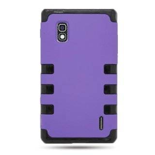 CoverON� HYBRID Dual Heavy Duty Hard PURPLE Case and Soft BLACK TPU Cover for LG E970 OPTIMUS G / ECLIPSE 4G LTE (AT&T) With PRY  Triangle Case Removal Tool [WCB1070] Cell Phones & Accessories