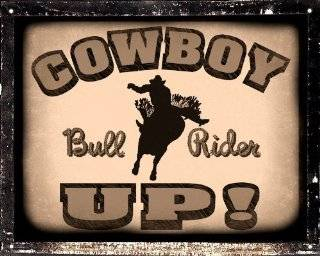 bull riding Cowboy gift SIGN rodeo / retro vintage antique mancave boys room wall decor art 307