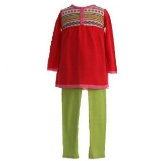 BT Kids Little Girls Clothes 2pc. Trendy Red Sweater Outfit Girl 6X bt kids Clothing