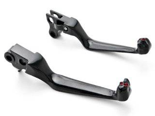 Harley Davidson Black Brake / Clutch Skull Hand Levers (1996 2012) Billet Aluminum Black Brake and Clutch Skull Hand Grips Levers Left and Right One Pair Motorcycle Automotive
