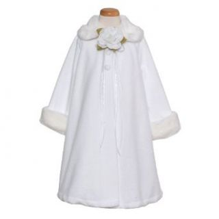 Kids Dream White Size 2 Fleece Faux Fur Collar Cuff Girls Coat Kids Dream Clothing