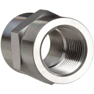 Parker Stainless Steel 316 Pipe Fitting, Hex Coupling, NPT Female X NPT Female Industrial Pipe Fittings