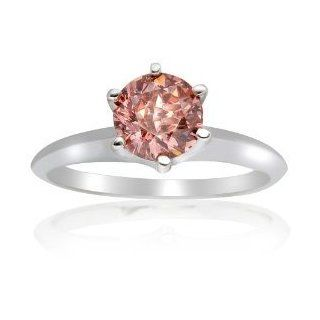 .50 Ct Pink Diamond Round Solitaire Engagment Ring Jewelry