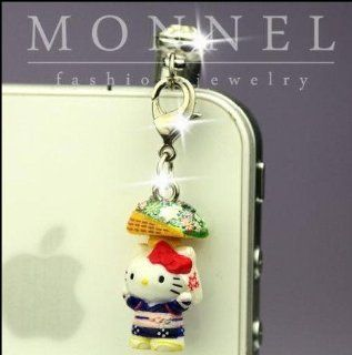 Ip322 Cute Hello Kitty 3d Charm Anti Dust Plug Cover for Iphone 4 4s Cell Phones & Accessories