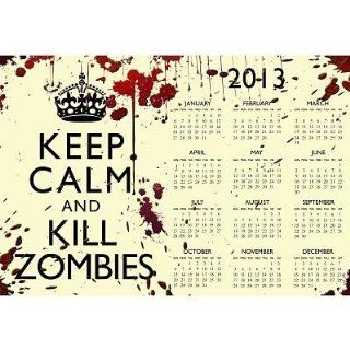 (13x19) Keep Calm and Kill Zombies 2013 Calendar Poster   Prints
