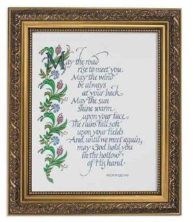 "An Irish Blessing Framed Prints,"" May the Road Rise to Meet You""  Imported"