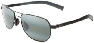 Maui Jim Guardrails 327 02 Polarized Aviator Sunglasses,Gloss Black Frame/Neutral Grey Lens,One Size Shoes