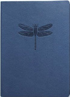 Blue Embossed Dragonfly Faux Leather Journal   Lined