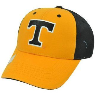 NCAA Tennessee Volunteers Vols Two Tone Curved Bill Orange Black Velcro Hat Cap Sports & Outdoors