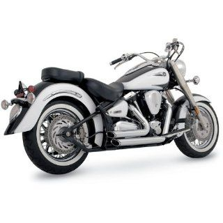 Vance And Hines Shortshots Staggered Exhaust For Yamaha XV1700A Road Star 2004 2006 / XV1700AM Road Star Midnight/XV1700AT Road Star Silverado/XV1700ATM Road Star Midnight Silverado 2004 2007 / XV1700AW Road Star 2005 2007   18517 Automotive