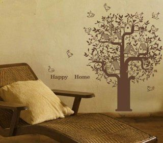 Nature Decal Wall Stickers Vinyl Wall Decal Tree Bird Birds Nest Leaf Leaves Living Room Bed Room 341   Wall Decor Stickers