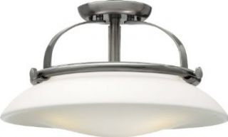 Hinkley Lighting 3321BN Hutton 3 Light Semi Flush Ceiling Fixture, Brushed Nickel   Ceiling Pendant Fixtures