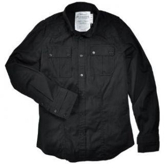 Monarchy Men's Stretch Poplin Button Down Shirt, Black, M at  Men�s Clothing store