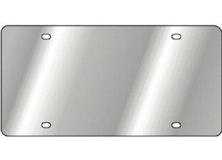 Blank Stainless Steel Metal Front Vanity License Plate #345 Automotive