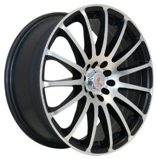 "Voxx 347 Satin Black Wheel with Machined Face (18x7.5""/4x100mm) Automotive"