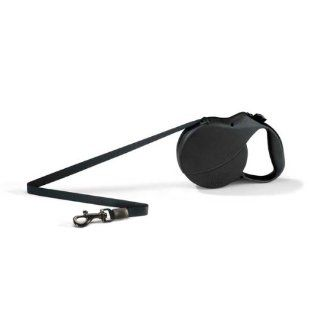 Flexi USA Retractable Tape Leash For Dogs Up To 110 Lbs Black 26'  Pet Leashes