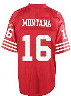 San Francisco Joe Montana Red Reebok Premier Throwback Jersey (Medium) Sports & Outdoors
