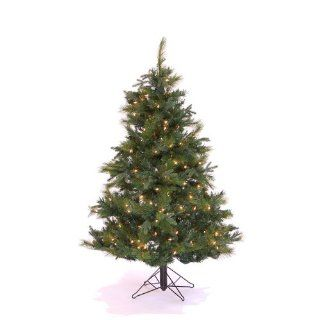 4.5' Pre Lit Glacier Mixed Artificial Christmas Tree   Clear Mini Lights