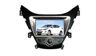 Eagle for 2011 2012 Hyundai Elantra Car GPS Navigation DVD Player Audio Video System with Radio (AM/FM), Bluetooth Hands Free, USB, AUX Input, (free Map), Plug & Play Installation  In Dash Vehicle Gps Units  GPS & Navigation