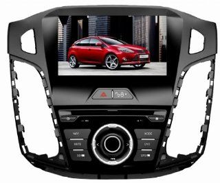 Eagle for 2012 2013 Ford Focus Car GPS Navigation DVD Player Audio Video System with Radio (AM/FM), Bluetooth Hands Free, USB, AUX Input, (free Map), Plug & Play Installation  In Dash Vehicle Gps Units