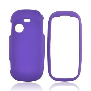 For PURPLE Samsung T369 Rubberized Hard Case Cover Cell Phones & Accessories