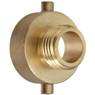 "Moon 369 1521021 Brass Fire Hose Adapter, Pin Lug, 1 1/2"" NH Female x 1"" NH Male Fire Hose Fittings"