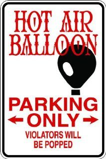 "10""x14"" 1mil thin plastic hot air balloon novelty parking sign for indoors or outdoors  Yard Signs  Patio, Lawn & Garden"