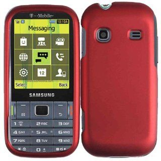 Hard Case Cover for Samsung Gravity TXT T379 Red Cell Phones & Accessories