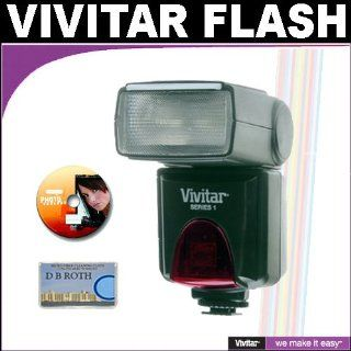 Vivitar High Power Auto Flash DF 383 with Bounce & Swivel Head For The Canon Digital EOS Rebel T1i, T2i, XSI, XS, XTI, XT, 50D, 40D, 30D, 20D, 10D, 5D, 1D, 5D Mark 2, 7D, G11, G10, G9, G7, SX20, SX10, SX1, S5 IS Digital SLR Cameras  Digital Camera Acc